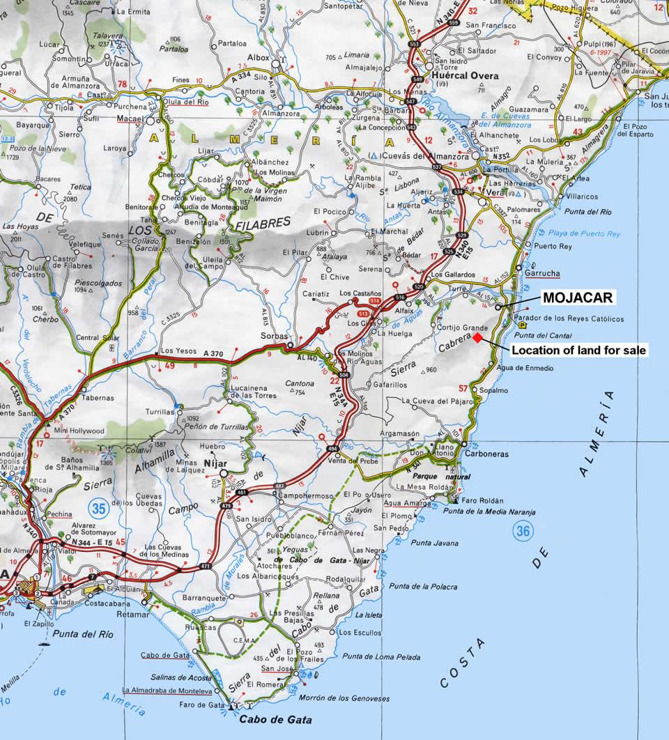 Details of land for sale mojacar almeria in spain - Costa sol almeria ...